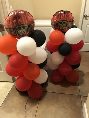 2 party balloons pillars. $10 for Sale in Tracy, CA