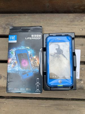 Lifeproof FRE blue phone case iPhone 6 Plus/6s plus never used for Sale in Seattle, WA