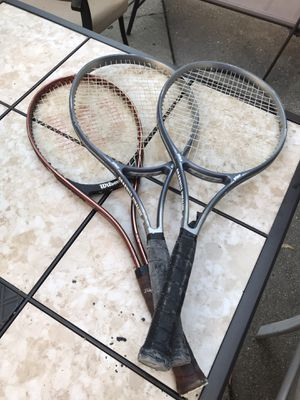 3 tennis rackets for Sale in Mount Prospect, IL