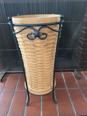 Longaberger Umbrella Basket and Stand for Sale in Long Beach, CA