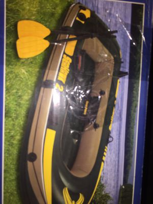 Inflatable paddle boat with oars for Sale in Auburn, WA