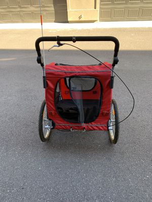 Pet Stroller and Trailer w/ Hitch, Suspension, Safety Flag, and Reflectors -Red for Sale in Scottsdale, AZ