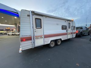 Car trailer . RV home . Mobile home . Camper trailer for Sale in ONIZUKA Air Force Base, CA