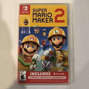 Nintendo Switch ~ Super Mario Maker 2 (variant) for Sale in Pleasant Hill, CA