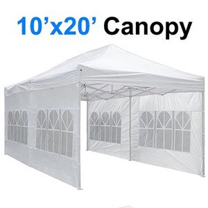 $210 (new in box) large heavy-duty 10x20ft canopy pop up tent with side walls instant shade carry bag rope stake for Sale in Pico Rivera, CA