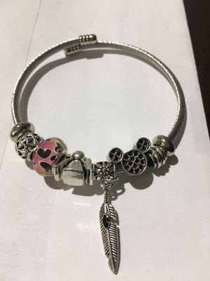 Stainless Steel Charmed Cuff Bracelet for Sale in Atlanta, GA
