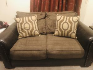 Used brown leather sofa for Sale in Sudley Springs, VA