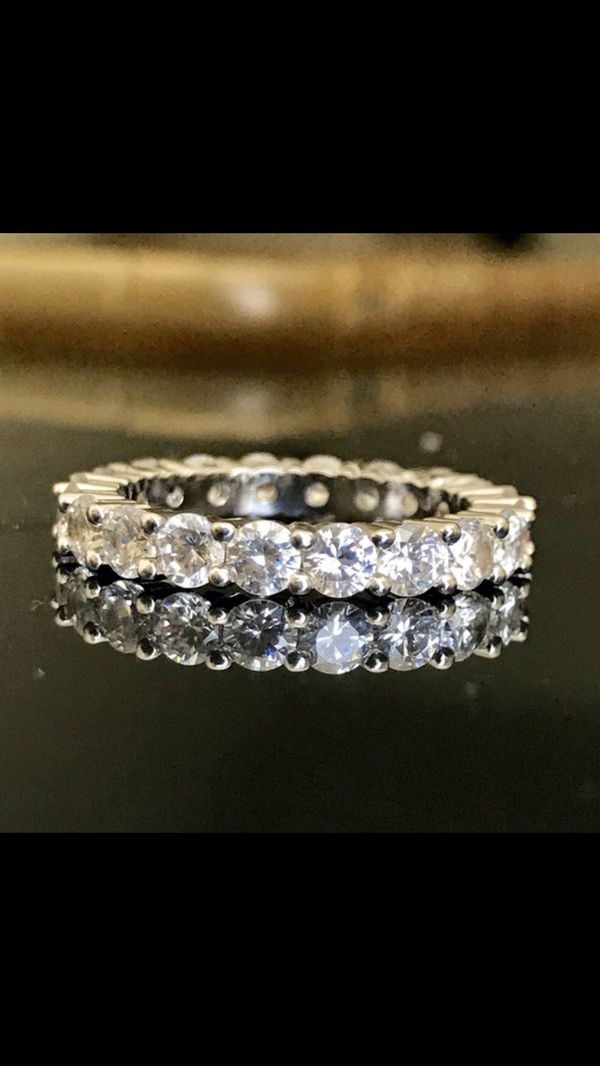 Wedding engagement silver claw ring band women's jewelry accessory fashion ring size 6