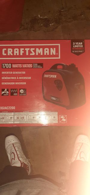 Crafstman 1700 watts inverter generator for Sale in Las Vegas, NV