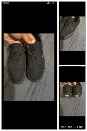 Black vans great condition for Sale in Capitol Heights, MD