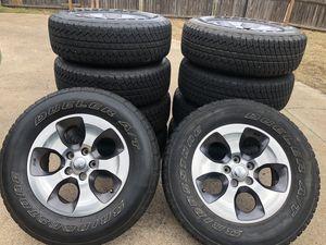 "Jeep Wrangler 18"" oem wheels set of 5 for Sale in Bedford, TX"