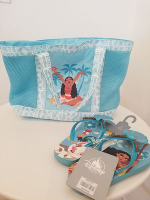 Disney Moana Beach Bag & Flip Flops for Sale in Las Vegas, NV