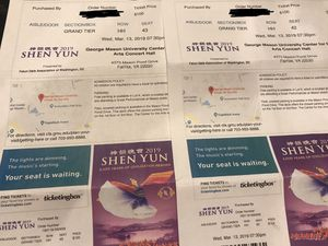 2 tickets for Shen Yun for Sale in Fairfax, VA