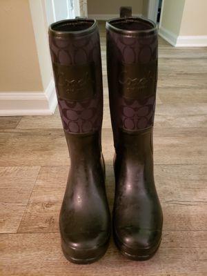 Coach rain boots size 10 for Sale in Nashville, TN