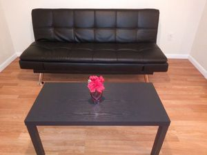 New leather futon with coffee table for Sale in Sebring, FL