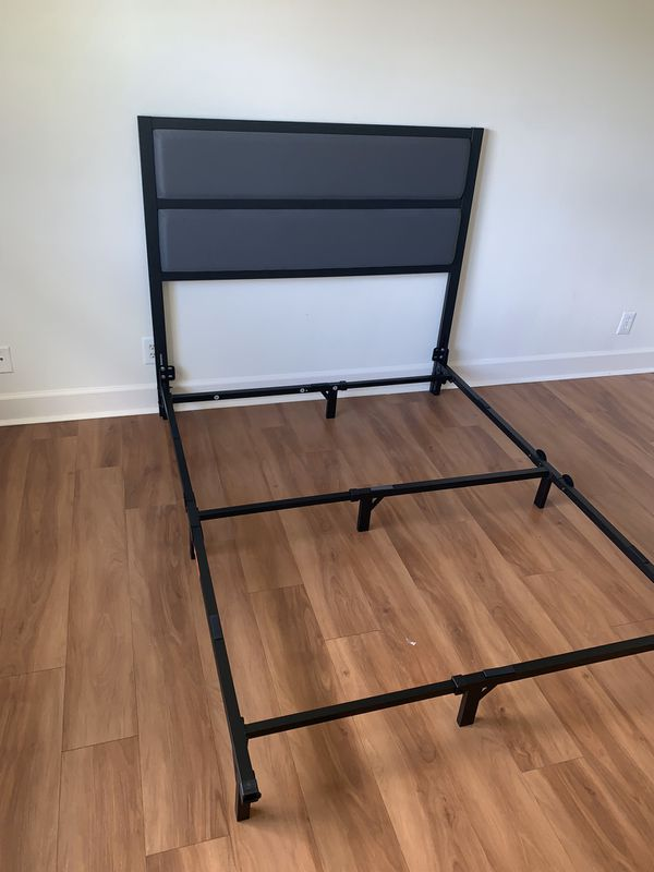 Gray and black twin bed frame FREE DELIVERY 🚚 with mattress and box spring new in the box