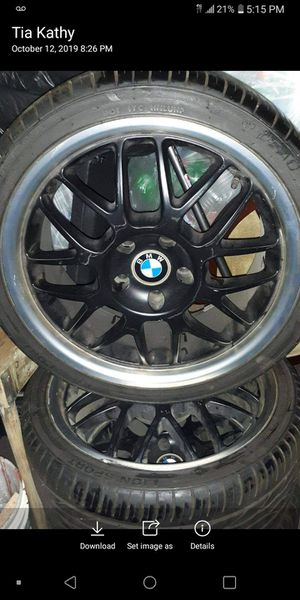BMW rims with new tires for Sale in Perris, CA