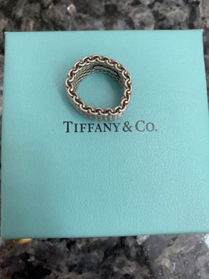 Tiffany & Co. Somerset wide mesh ring - size 5 for Sale in Silver Spring, MD