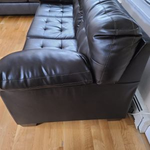 Brown Faux Leather sofa for Sale in Levittown, NY