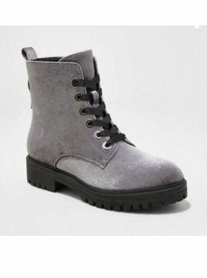 Mossimo Rihanna Gray Velvet Combat boots for Sale in Turlock, CA