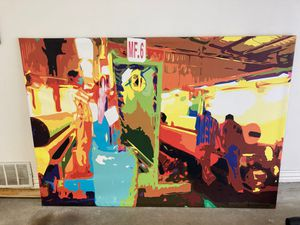 """Wall Art on canvas 78""""x55.5"""" for Sale in Houston, TX"""