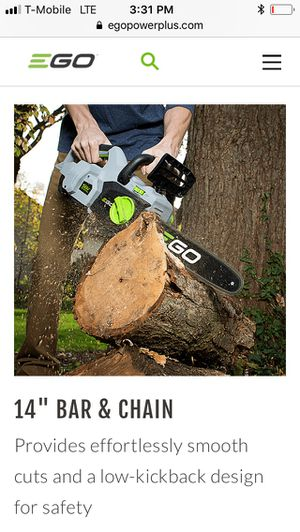 EGO Battery and Chainsaw for Sale in Lynnwood, WA