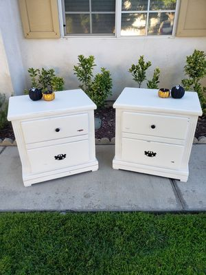 Distressed white nightstands for Sale in Upland, CA