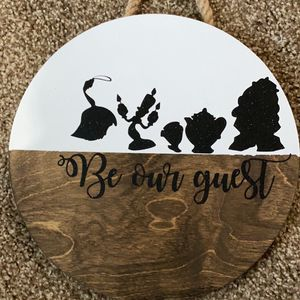 Be Our Guest Wooden Door Hanger for Sale in Buffalo, NY