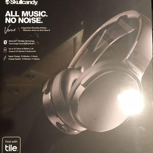 Skullcandy - Venue Wireless Noise Cancelling Over-the-Ear Headphones - Black