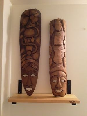 Hand carved art and shelving for Sale in Seattle, WA