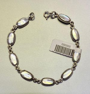 Natural Mother Of Pearl Inlay Silver Bracelet for Sale in Houston, TX