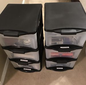 Multiple purpose plastic drawers storage organizer. for Sale in San Antonio, TX