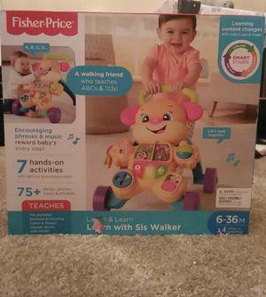 Baby walker & Smart Stages Sis stuffed bear for Sale in Carrollton, TX