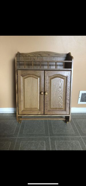Marcs solid wood cabinet for Sale in Shelby Charter Township, MI