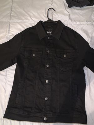 Zara black denim jacket winter wear for Sale in Austin, TX