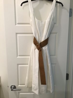 Like New- Worn for 1 Hr -Size 6 White Nine West Fit & Flare Dress for Sale in Chula Vista, CA