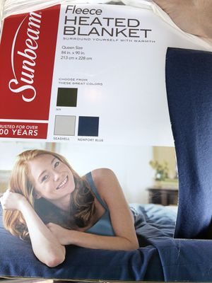 Sunbeam Fleece Heated Blanket for Sale in West Hollywood, CA