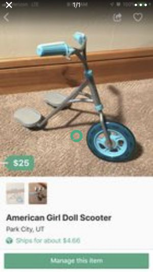 American Girl Doll Scooter for Sale in Park City, UT
