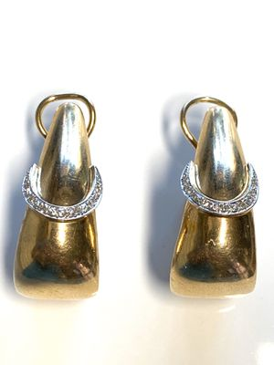 14k Solid Gold Diamond Earrings Clip for Sale in Daly City, CA
