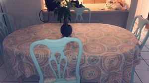 """Kitchen table with 4 chairs chars 37"""" H, table 64L and """"41 inches width for Sale in West Palm Beach, FL"""