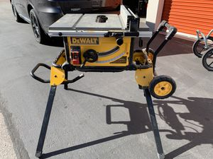 DEWALT 15-Amp Corded 10 in. Job Site Table Saw with Rolling Stand for Sale in Tempe, AZ