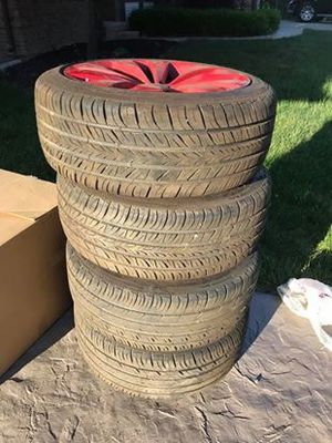 4 tires with rims 215/45ZR17 for Sale in Clinton Township, MI