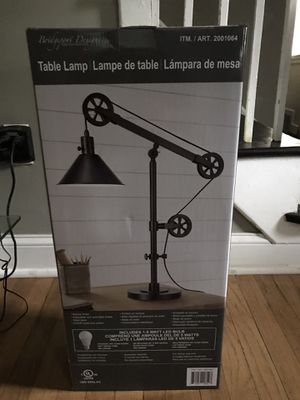 Pulley table lamp . for Sale in Alexandria, VA