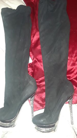 Womens knee high diamond boots for Sale in Ruskin, FL