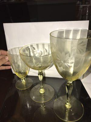 Vintage crystal glasses for Sale in Mooresville, NC