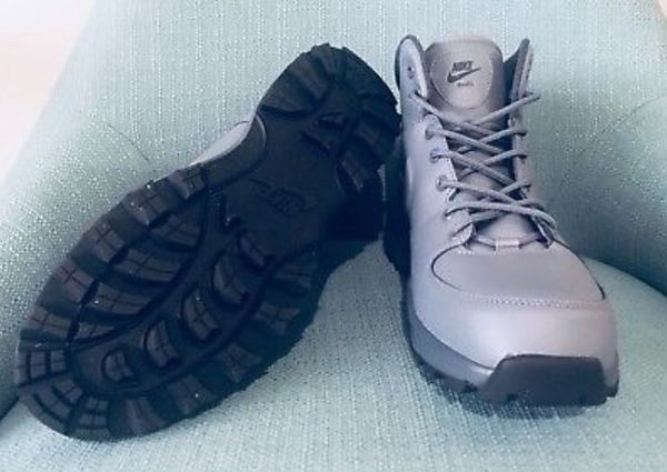Nike Manoa Grey Leather Men's Boots Size 9.5