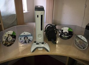 Xbox 360 complete bundle with 5 games 20 gb Hard drive for Sale in Tracy, CA