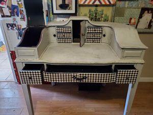 Antique diamond checker desk for Sale in Huntington Beach, CA