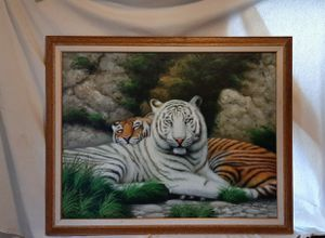 Hand painted on canvas with wood frame for Sale in Spencer, WV