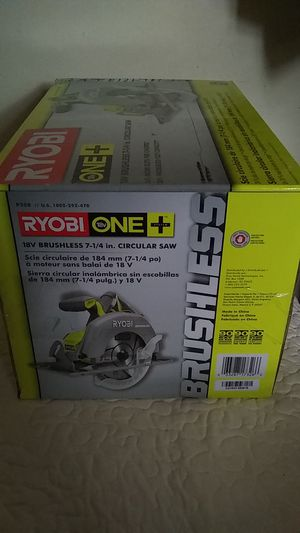 Ryobi One+ 18v l 7-1/4in. l Brushless Circular Saw/Table Saw for Sale in St. Louis, MO